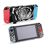 SUPNON Carry Case Compatible with Nintendo Switch, Ultra Slim Hard Shell, Protective Carrying Case for Travel - Dark Hypnotic Tunnel with Concrete Texture Design25022