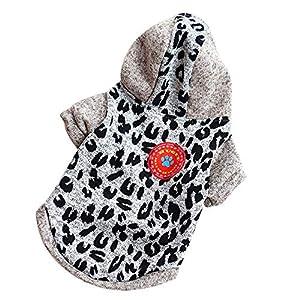 Kolylong ? Chemises Halloween vêtements pour chien Puppy Dog Sweat à capuche en laine polaire Tee Shirts chemisier Vêtements Costume Halloween Mignon