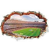 WandSticker4U®- 3D Wandtattoo Fussball Arena I Wandbild: