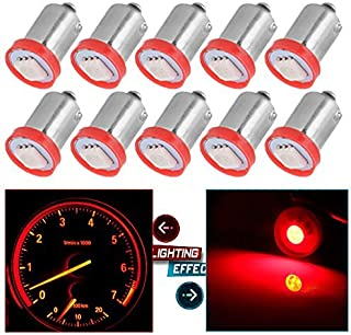 cciyu BA9S 1815 1816 182 1889 LED Light Bulbs Insrument Cluster Gauges Dashboard Light Ash Tray Glove Box Light,10 Pack Red