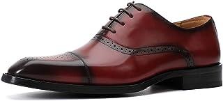 Zapatos Derby de Vestir de Negocios de Cuero Genuino para Hombres Calzado de Trabajo Informal británico