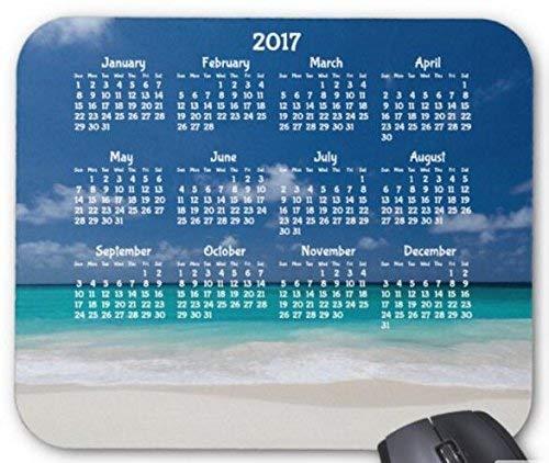 Benutzerdefinierter jahreskalender 2017 mouse pad computerzubehör, Gaming mouse mat beach