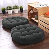 These solid color floor cushions are your most suitable choice for decorating indoor outdoor spaces, balcony living room garden office playroom etc. Soft and comfortable - super soft velevt fabric, gentle on the most sensitive skin types. These medit...