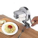 CHSEEO Macchina per la Pasta Manuale Torchio per Pasta Torchietto Stampo Pasta Maker Manuale Noodles Pressa per Pasta Fresca, Tagliatelle, Fettuccine, Lasagne, Ravioli e Spaghetti #3