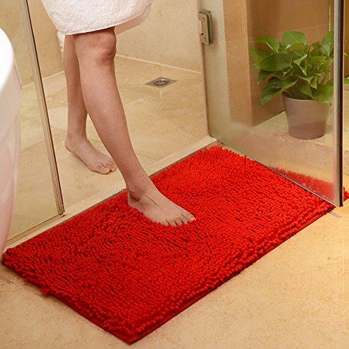 PEIWENIN-Matelas de porte de salle de bain en laiton de salle de bains salon de chambre salon d'eau sommier à pattes à pied, 50 * 80cm, rouge