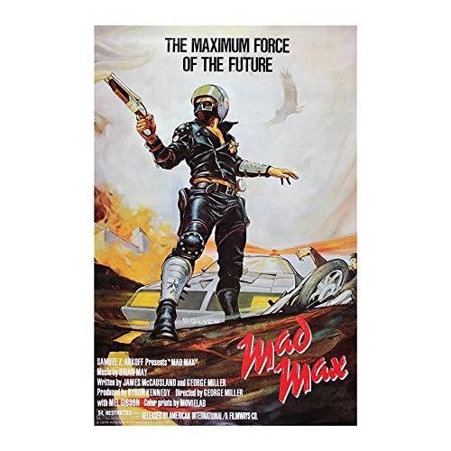 hllhpc (zonder fotolijst) film Classic Mad Max Silk Poster 1979 jaar film Wall Art Poster Mel Gibson druk op stof Vintage Men Room Home Decoration