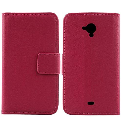 Gukas Design Echt Leder Tasche Für Archos 50 Titanium 4G 5