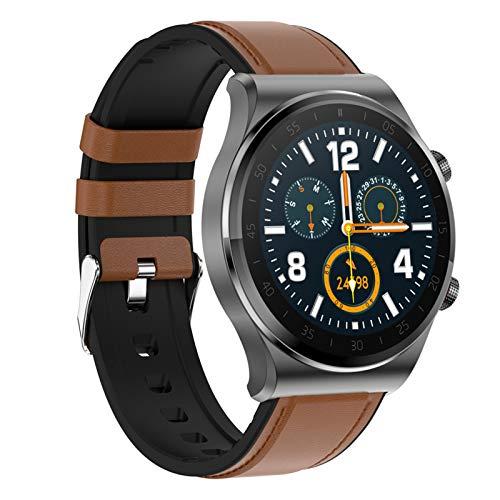 BNMY Smartwatch Reloj Inteligente Impermeable IP67 con Monitor De Sueño Pulsómetros Cronómetros Contador De Caloría, Pulsera De Actividad Inteligente para Hombre Mujer Niños con iOS Y Android,A