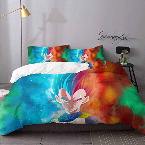1 Comforter Cover 2 Kussen Shams Trunks Dragon Ball Super Hd Soft Dekbedovertrek Set Met Rits Sluiting Bedding 3 Stuk Dekbedovertrek Set Twin