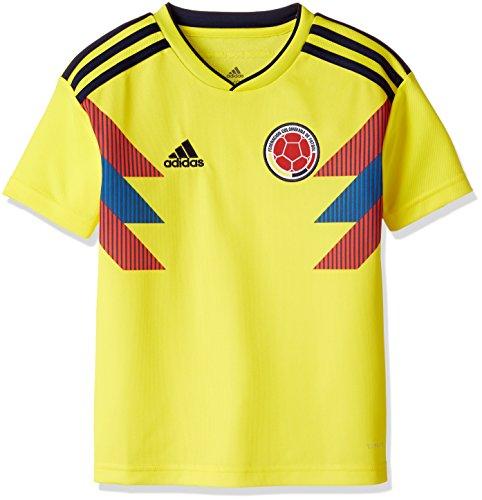 adidas Colombia Camiseta de Equipación, Niños, Amarillo (amabri/Maruni), 164-13/14 años