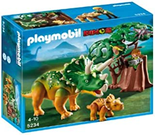 PLAYMOBIL® Explorer and Triceratops with Baby
