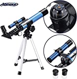Aomekie Kids Telescope for Astronomy Beginners Refractor Telescopes with Tripod Finderscope and Compass
