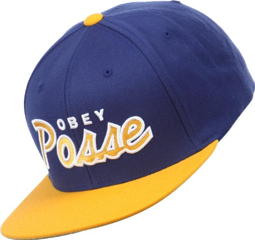 Obey - Casquette Snapback Homme Posse - Blue/Gold