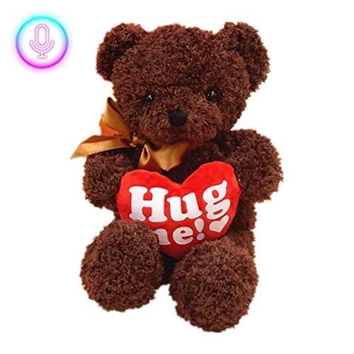 Sprechender Bär Spielzeug Mimikry Pet Sprechender Bär Elektronisches Plüschbär Spielzeug mit Aufnahme Lustiges Interaktives Spielzeug Puppengeschenk zum Valentinstag