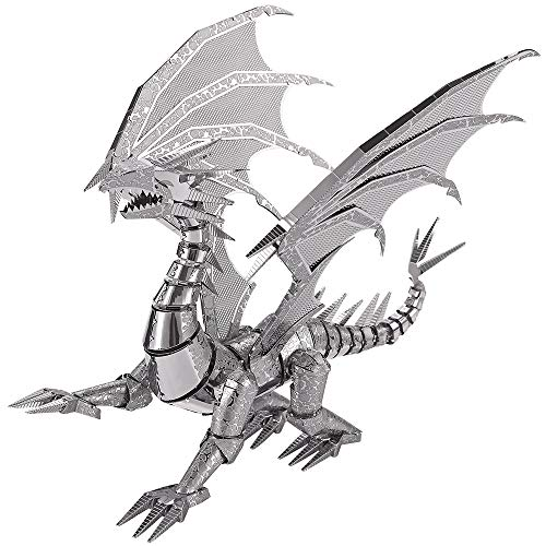 piececool 3D DIY Dragon Metal Modell Metallmodell-Puzzles für Erwachsene - Dragon FLAME-115pcs
