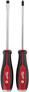 Milwaukee 48-22-2702 2 Piece Demolition Slotted and Phillips Head Screwdriver Set W/Steel Endcaps
