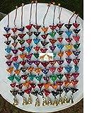 Super India - Decoración colgante tradicional indio con campanas de 10 pájaros