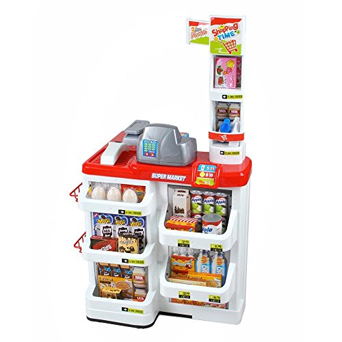 Marchande épicerie caisse de supermarché pour enfant