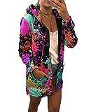 Lisa Billy Jacket Women Print et Coat Casual Windbreaker Thin Slim Overcoat Spring Autumn Female Pocket Zipper Hooded Outwear Rose Red M