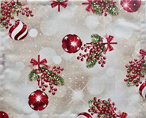 1KDreams Mantel de Navidad de Algodón. diseño Refinado y Moderno. Shabby Chic en Clave Moderna. Fabricado en...