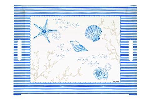 EASY LIFE 200MIST Plateau, Mélamine, Bleu, 52 x 37 x 5 cm