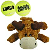 KONG - Cozie Marvin The Moose and 2 SqueakAir Balls - for Medium Dogs