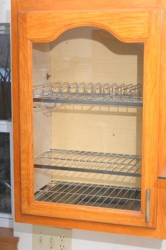 Zojila Cabana Cabinet Plate and Utensil Racks, Polished Stainless Steel