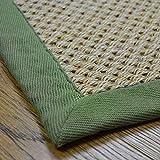 Floordirekt - Alfombra 100% Pura de sisal con Cenefa - Alfombra de salón - Alfombra Natural - Tiger-Eye - en 3 Colores y 2 tamaños (200 x 290 cm), Color Natural/Pardo