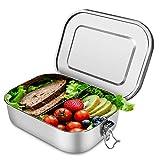 Scatole bento pranzo in acciaio inossidabile scatola da bento in metallo 1400 ml contenito...