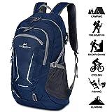 [page_title]-Loocower 45L Leichte Packable Reiserucksack Wanderrucksack, Multifunktionale Tagesrucksack, Faltbare Camping Trekking Rucksäcke, Utra Leicht Outdoor Sport Rucksäcke Tasche - Blue