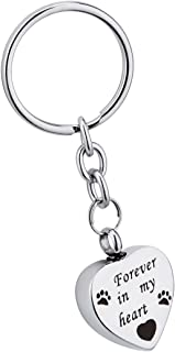 I'm Here Watching Over You Cremation Urn Keychain Memorial Ash Pendant with Free Engraved