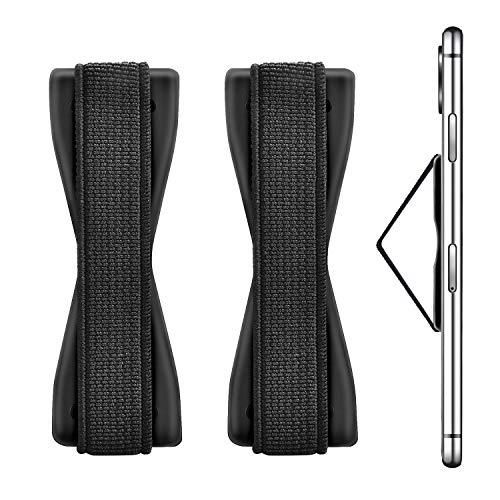 moinkerin 2 Piezas Elástico con Agarre de Dedo Agarre Elástico para Móvil Banda de Sujeción para Dedos para Smartphone Tablet Huawei Samsung Sony