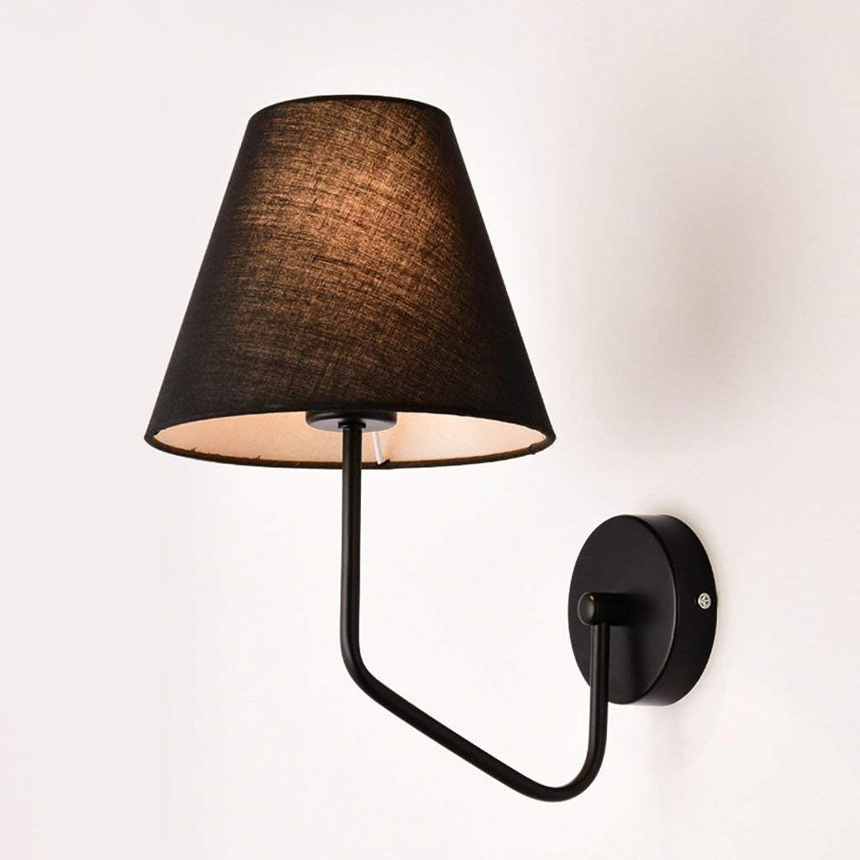 Wandleuchten Wandleuchte E27 - LED-Schlafzimmer Wand lampe Korridor Wandleuchte Stoff Wand lampe Nachttischlampe (Farbe  A)