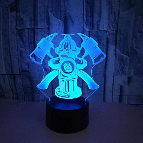3D 3D brandblusser, nachtlampje, 3D Home Atmosphere verlichting, kleine tafellamp met afstandsbediening, kindercadeau