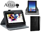 Navitech Black 360 Rotational Case Cover Compatible with The Vuru A33 7-Inch 8GB Tablet
