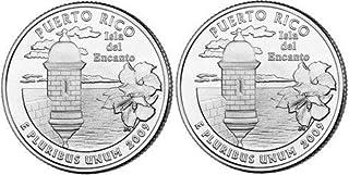 2009 Puerto Rico State Quarters (Philadelphia & Denver Mints) Uncirculated