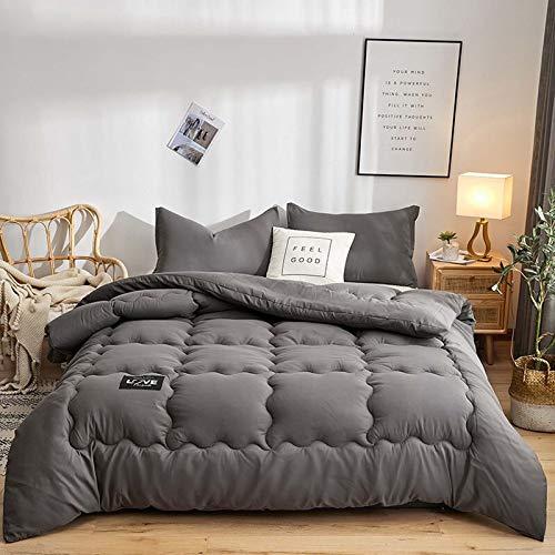 TOSBTD All-Season Down Alternative Quilted Comforter Premium Soft Duvet Insert Box Stitched Quilt for Home, Hotel, Dorm Room,Black,150x200cm/3kg