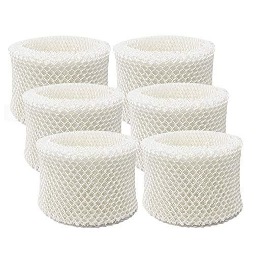 Lemige 6 Pack Humidifier Wicking Filters Compatible with Honeywell HC-888, HC-888N, Filter C, Designed to fit Honeywell HCM-890 & HEV-320 & DCM-200 & DH-890