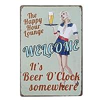 Welcome Beer O'clock ティンサイン ポスター ン サイン プレート ブリキ看板 ホーム バーために