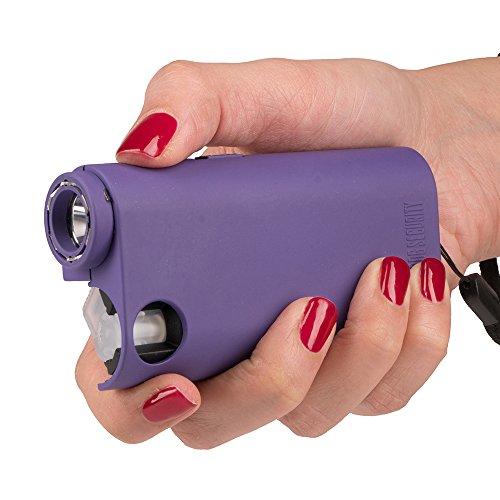 Guard Dog Security World's Only All-in-One Stun Gun - Pepper Spray - Flashlight, Olympian, Purple