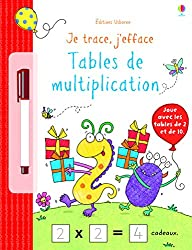 Je trace, j'efface - Tables multiplication
