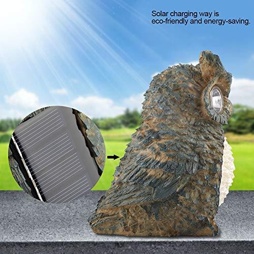 Easy Operated Owl-Shaped LED Solar Light, Lawn Light, Durable Solar Garden Light, Garden for Home Outdoor Patio(White light)