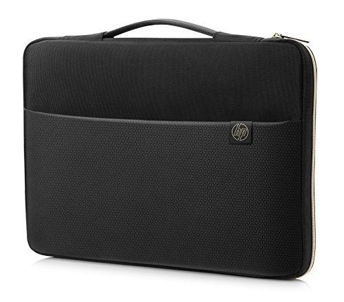 HP Sleeve (3XD35AA) Schutzhülle für Laptops, Tablets (15,6 Zoll) schwarz / gold