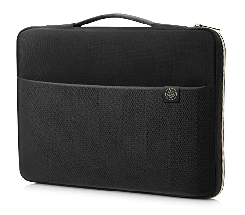 HP Duotone 14 Inch (35.5 cm) Black & Gold Carry Sleeve for Laptop/Chromebook/Mac