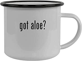got aloe? - Stainless Steel 12oz Camping Mug, Black