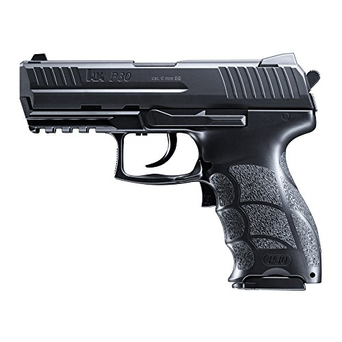HECKLER & KOCH Softair P30 electric mit Maximum 0.5 Joule Airsoft Pistole, Schwarz, One Size