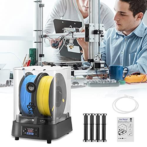 TELAM Caja Mejorada para filamento de Impresora 3D, secador de filamento, Compatible con filamento 3D de 1,75 mm, 2,85 mm, 3,00 mm, portabobinas de Secado rápido, Extra Grande, Alta Temperatura