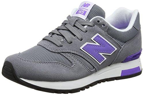 New Balance 565 Sneakers, Zapatillas Mujer, Gris (Grey/Purple), 36.5 EU