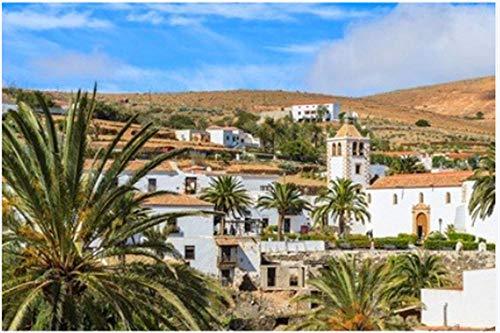 Rompecabezas De 1000 Piezas La Famosa Catedral De Santa María, Fuerteventura, Islas Canarias, España para Niños Adultos Mayores De 14 Años