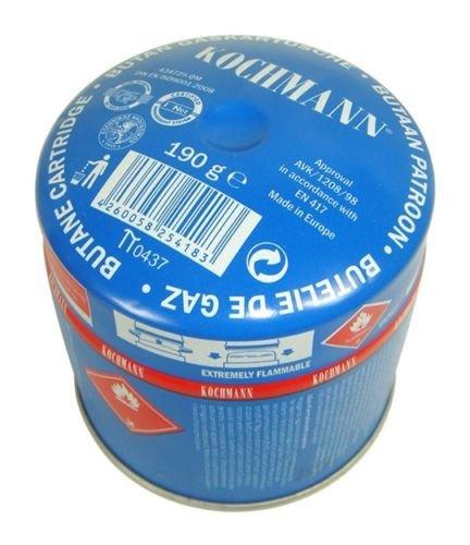 Original Kochmann 190g Butan Gaskartuschen für Campingkocher 190 Gramm Stechkartusche Gas Kartusche (10 Stück)